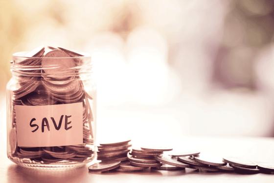 Photo of a savings jar