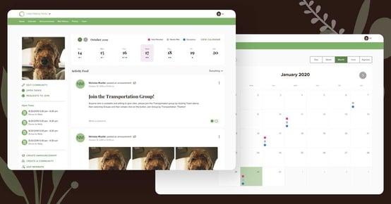 Lotsa Desktop Screenshot and Calendar