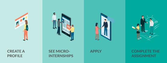 Micro-Internship Process Graphic
