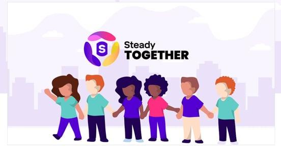 Screenshot of Steady Together initiative