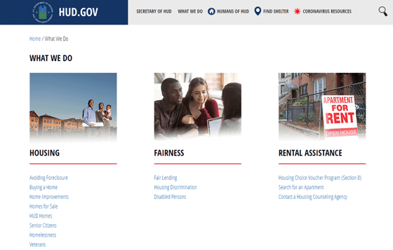 Hud.gov website