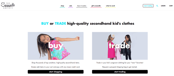 Screenshot of The Swoondle Society's website