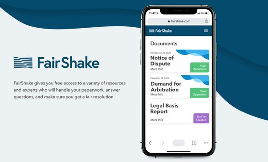 FairShake banner ad