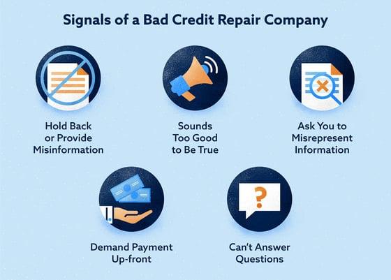 Signs of a Bad Credit Repair Company