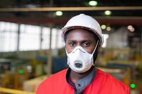 Worker Wearing a Face Mask