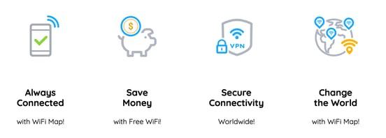 Screenshot of WiFi Map benefits