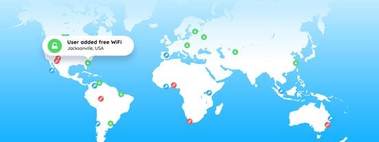 Screenshot of WiFi Map presence