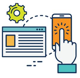 Akseleran Web and Mobile Graphic