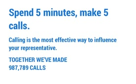 5 Calls call to action