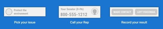Screenshot from 5 Calls website