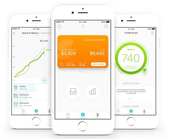 Screenshots of Prosper Daily app