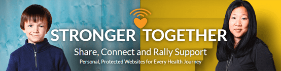 Screenshot of CaringBridge logo and users