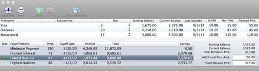 Debt Quencher Window