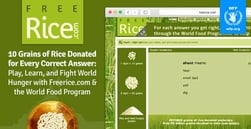 10 Grains of Rice Donated for Every Correct Answer — Play, Learn, and Fight World Hunger with Freerice.com & the World Food Program