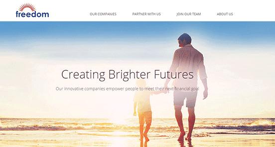 Screenshot of Freedom Financial Network