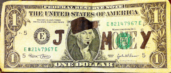 J. Money frequently brands himself using the one dollar bill