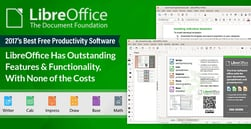 2017's Best Free Productivity Software: LibreOffice Has Outstanding Features & Functionality, with None of the Costs