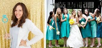 Jessica Bishop headshot and wedding party