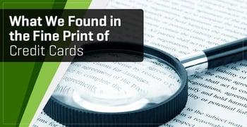 Fine Print Credit Cards