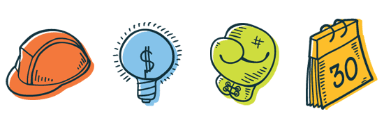 Icon Depictions of the YNAB Rules