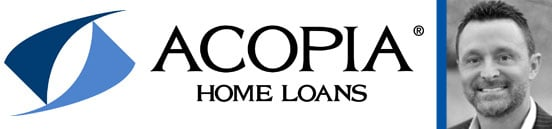 Collage of the Acopia Home Loans Logo and a Portrait of Craig Berry, Loan Originator for Acopia Home Loans