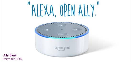 Screenshot of the Ally Skill℠ for Alexa