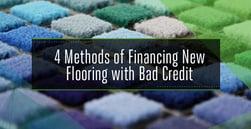 4 Methods of Carpet Financing for Bad Credit