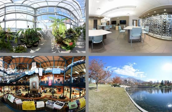 Collage of Photos from eCampusTours' Virtual Tours