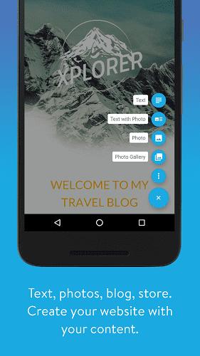 Screenshot of Jimdo Mobile App