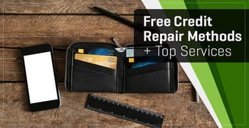 2 Methods of Free Credit Repair + Top 5 Services for Help & Advice