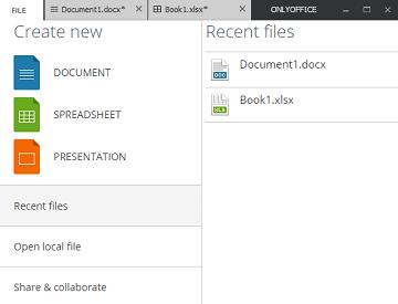 Screenshot of ONLYOFFICE Desktop Editors