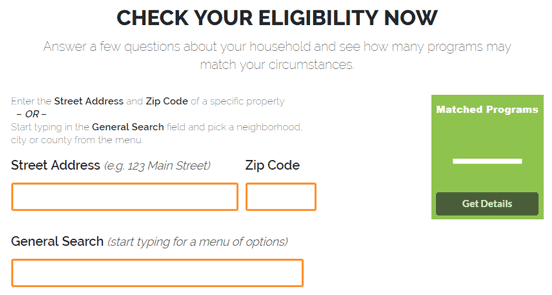 Screenshot from the Down Payment Resource Site