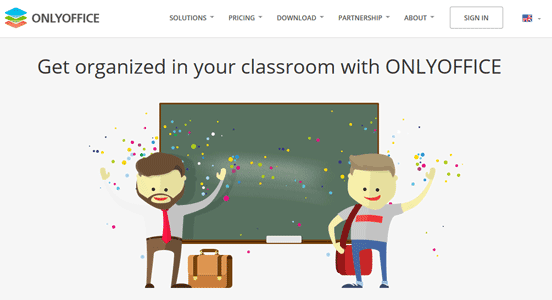 Screenshot of ONLYOFFICE Education Homepage