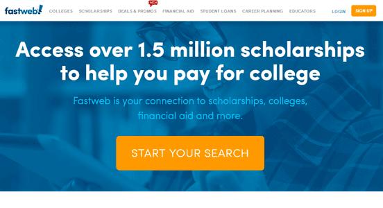 Screenshot of the Fastweb homepage