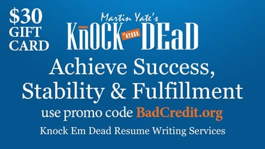 An Image of a Gift Card for Knock Em Dead Career Services