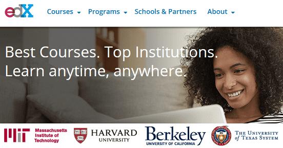 Screenshot of edX.org Homepage