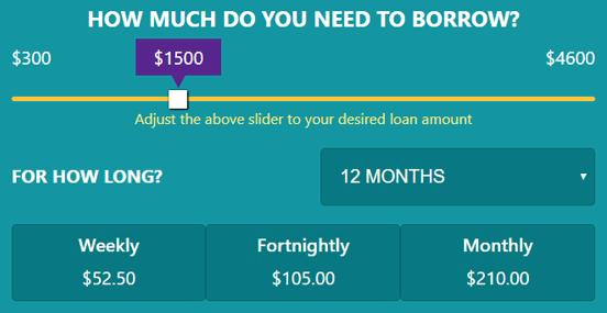Screenshot of the Jacaranda Loan Slider