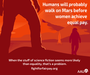 AAUW Equal Pay Mars Graphic