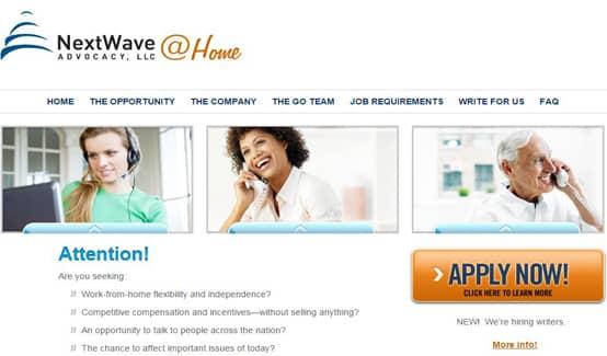 NextWave@Home Homepage