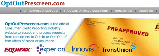 Screenshot of Opt Out Homepage