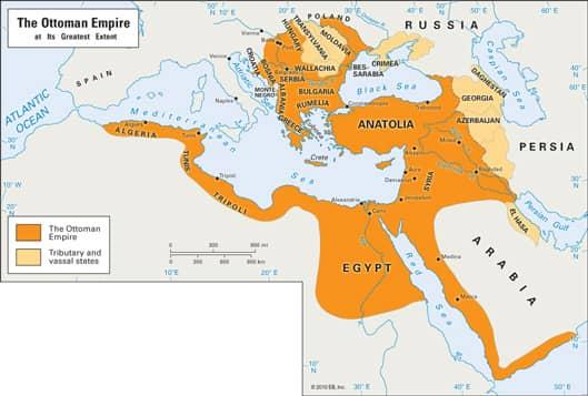 Ottoman Empire Reach