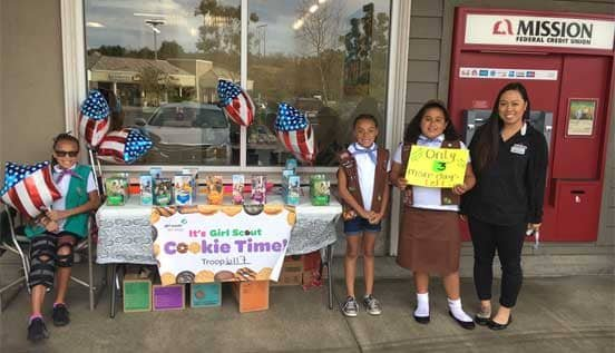 Photo of Girl Scouts Selling Cookies