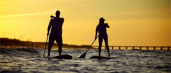 A Photo of Paddle Boarding in Virginia Beach