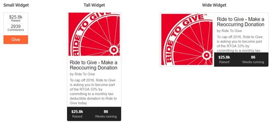 Examples of FundRazr Widgets