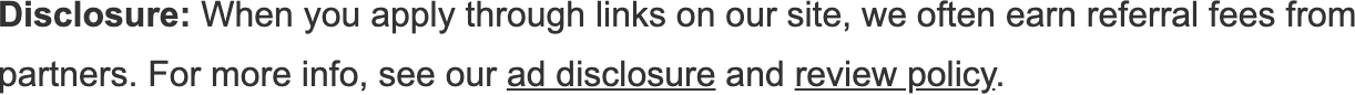 Advertiser Disclosure