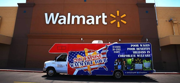 Photo of Making Change at Walmart tour bus