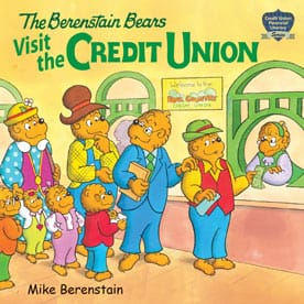 Cover art for the Berenstain Bears Visit the Credit Union book