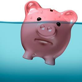 Piggy Bank Under Water Graphic