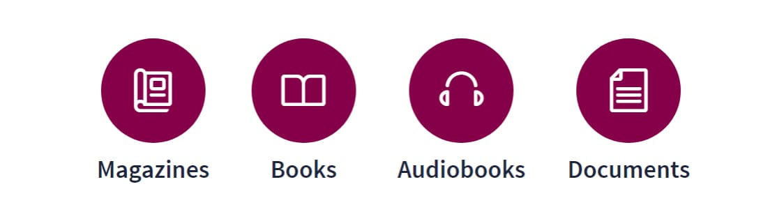 Screenshot of Scribd offerings