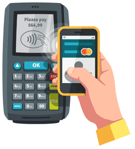 Image of Mobile Payment App in Use